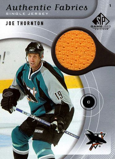 2005-06 SP Game Used Authentic Fabrics Joe Thornton (1)