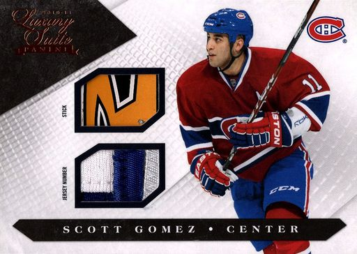 2010-11 Panini Luxury Suite Stick and Number #038 (1)