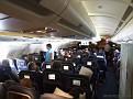 Vi flög med SAS och planet var en Airbus A330-300.