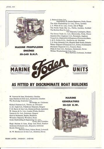 marine boat oil engines & generators 1954