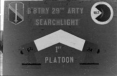 Searchlight unit on top of guard tower, Artillery Hill, Pleikue