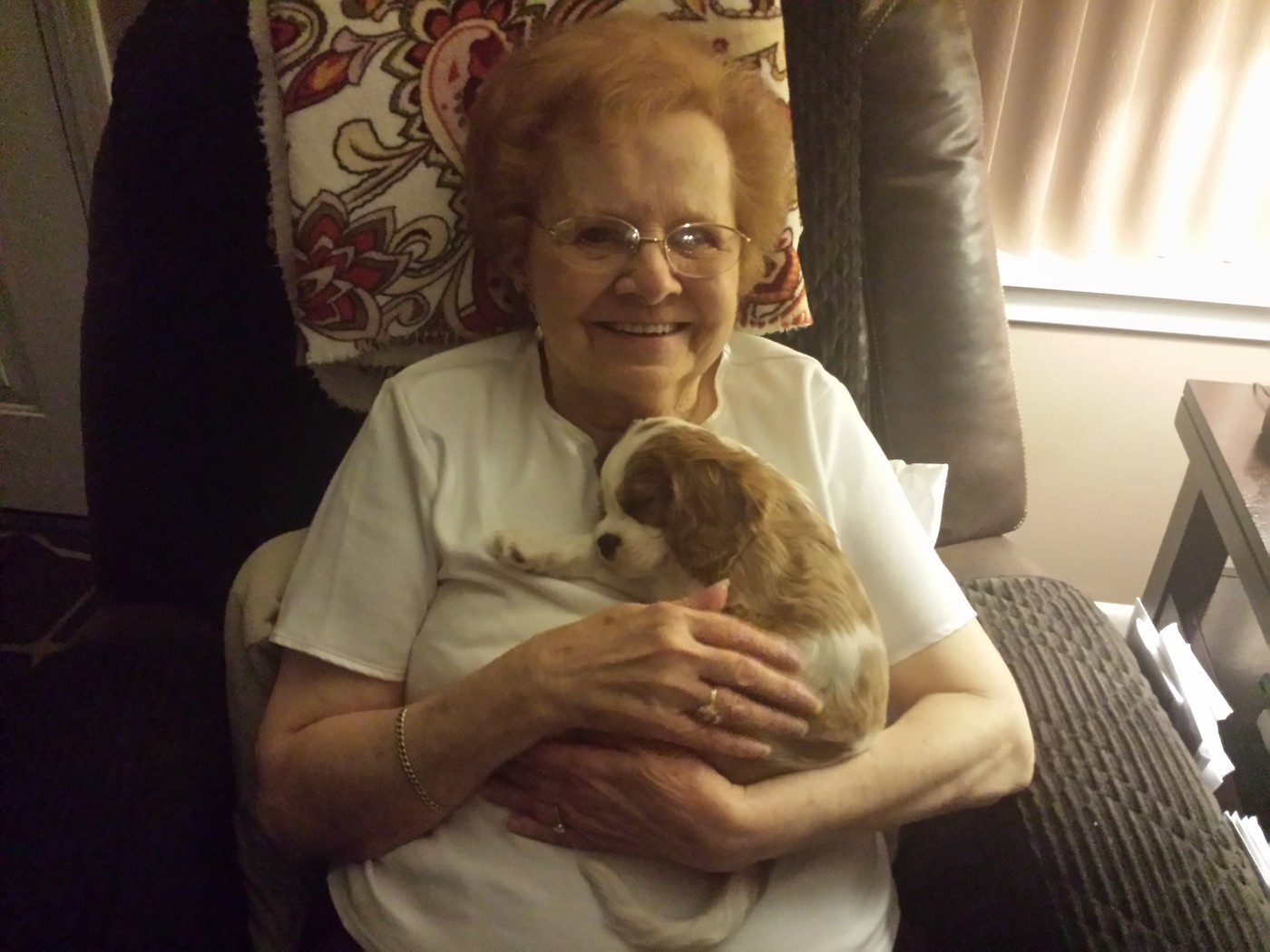 Mom making a friend on Thanksgiving